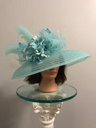 """See It Through"" - light blue KY Derby Hat SOLD"