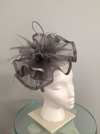 "Kentucky Derby Gray Fascinator - ""Betting Winners"""