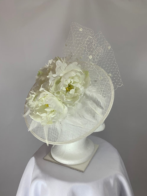 "Kentucky Derby  Fascinator ""Dotted Fashion"""