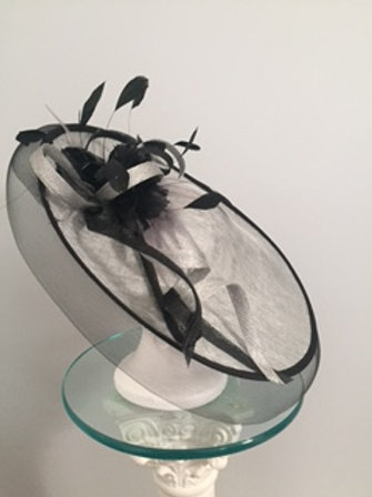 "Breeders' Cup or KY Derby-Gray Disc Fascinator "" Wonderful Winner"" (sold)"