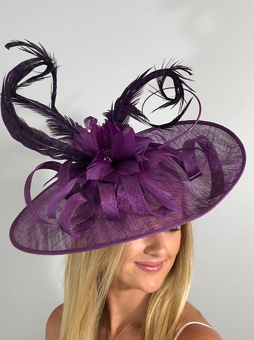 "Kentucky  Derby Fascinator ""Playful  in Purple"""