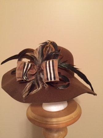 """Tantastic"" - light brown felt fall or winter hat"
