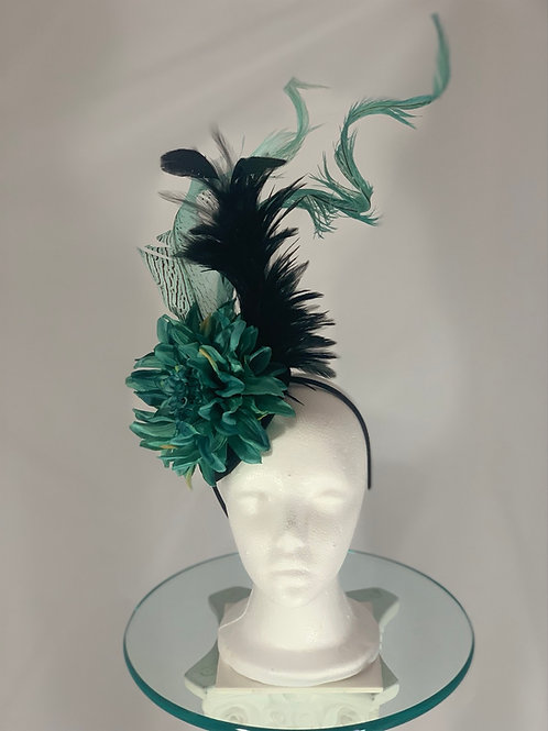 "Kentucky Derby Fascinator ""Twist and Turn"""