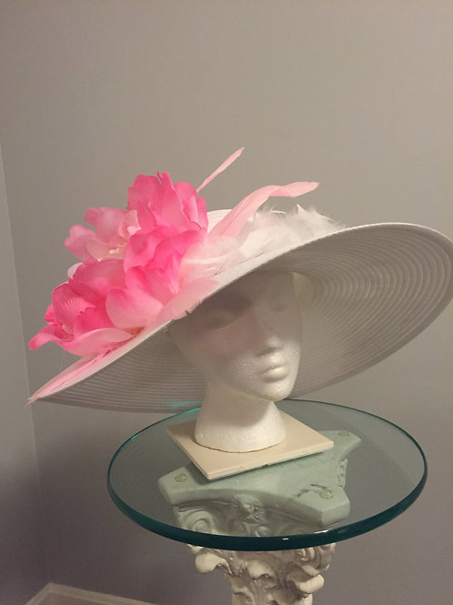 Kentucky Derby Hat - Flower Power Pink SOLD