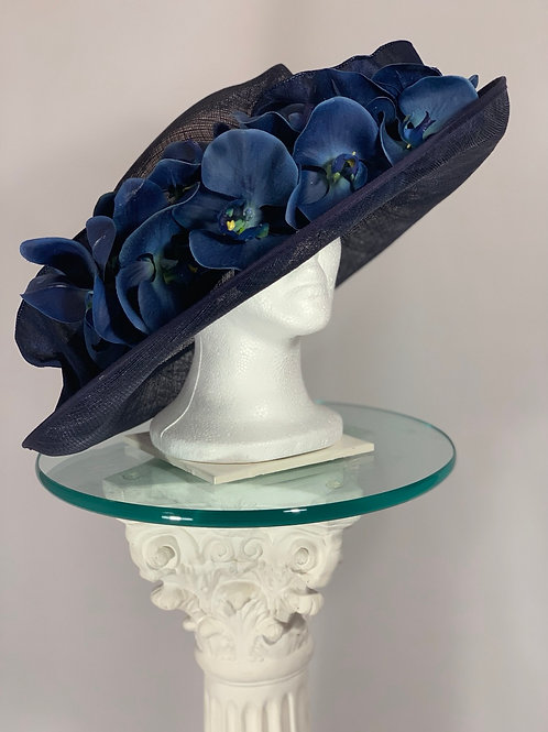 Kentucky Derby Hat (Navy) Orchid Elegance - SOLD