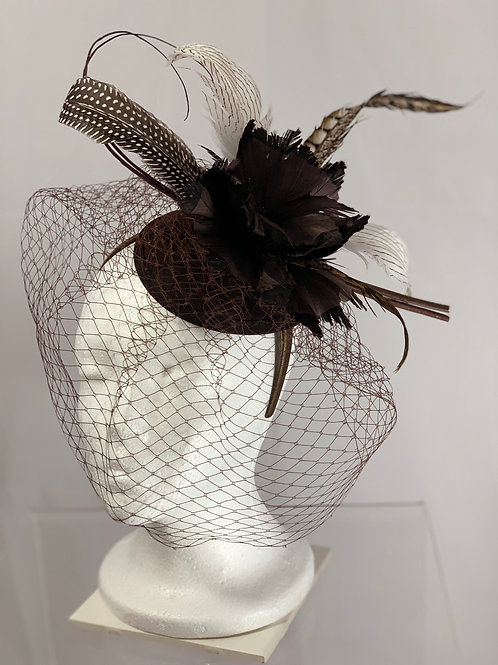 "Kentucky Derby or Breeders' Cup Fascinator - ""Brown Around Town"""