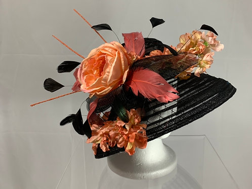 "Black Kentucky Derby Hat ""Cute in Kentucky"""