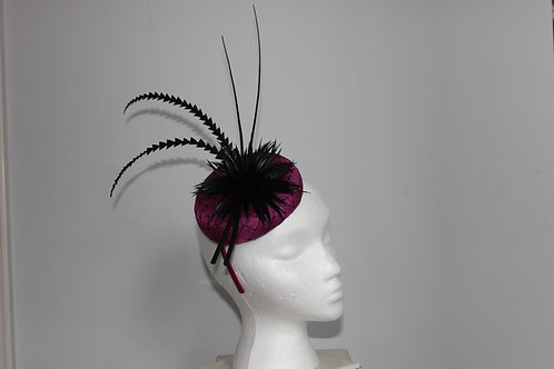 """SOLD """"Mystery Atop"""" - magenta fascinator SOLD"""