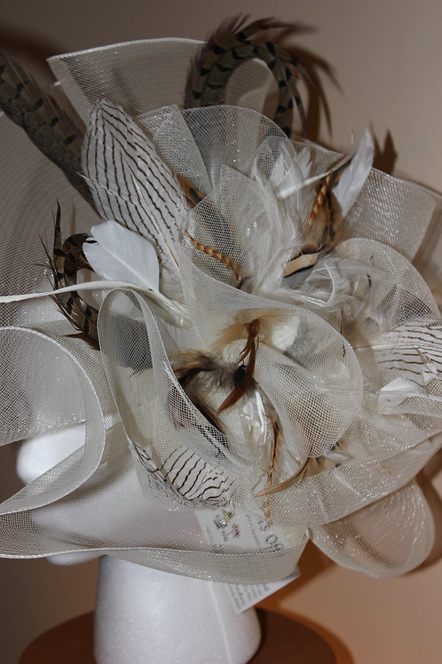 """Racing Fever"" - large fascinator on clip SOLD"