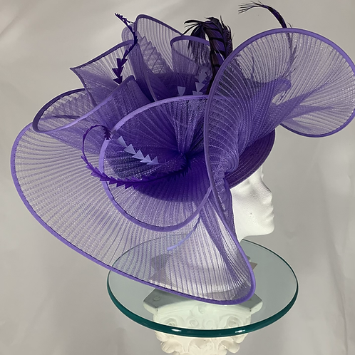 "Kentucky Derby Hatinator  "" Lavender  Loops of Luck"""