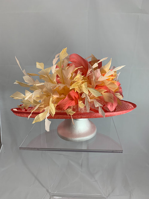 "Kentuckt Derby Hat ""Feathered Fancy Favorite"""