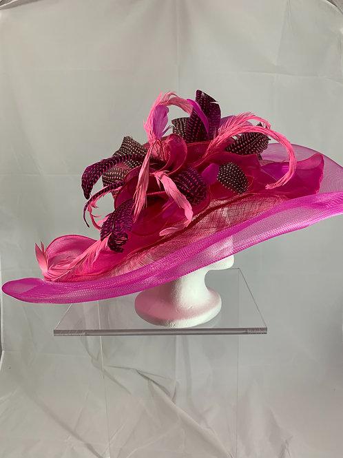 SOLD- Oaks Original  - Hot pink wide brimmed hat