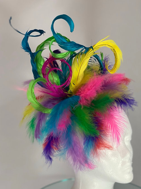 """Kentucky Derby Fascinator-""""Colorful Crazy"""" SOLD"""