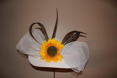 WHITE HAT - Sassy Sunflower ON SALE FOR $95