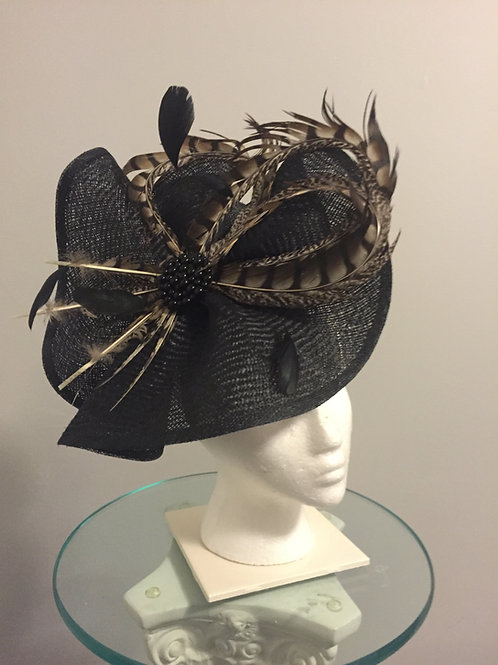 Kentucky Derby Black Fascinator -Race With a Twist SOLD