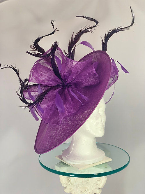 "Kentucky Derby Purple Fascinator ""Royal Bird"" SOLD"