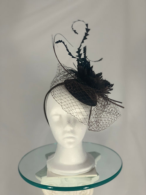 """Kentucky Derby Fascinator """"Brown and Black Attack"""""""