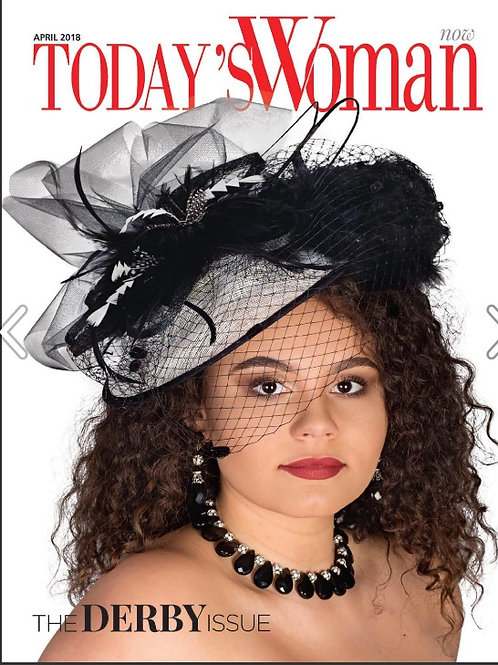 "Kentucky Derby Fascinator - ""Black and White Fascination"""