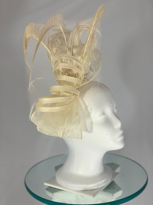 "SOLD ""Luck Be A Filly Tonight"" - Ivory Kentucky Derby Fascinator OLDS"