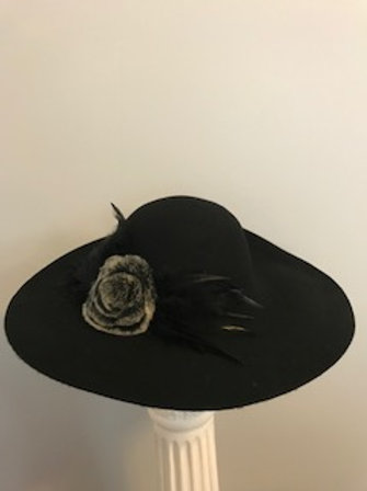 """Black at the Track "" - winter or fall hat"