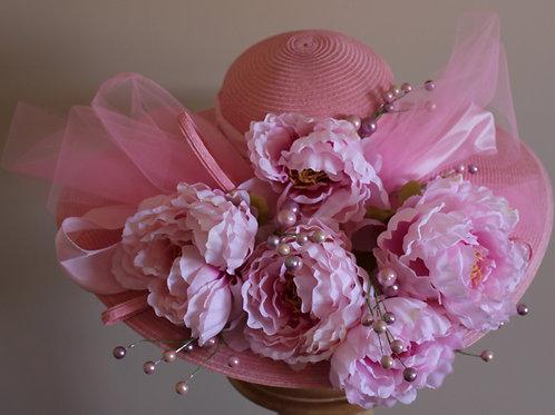 """""""Fleur de Filly"""" - Pink Kentucky Derby Hat (SOLD)"""