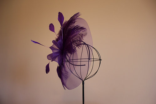 Kentucky Derby Fascinator- Purple Princess