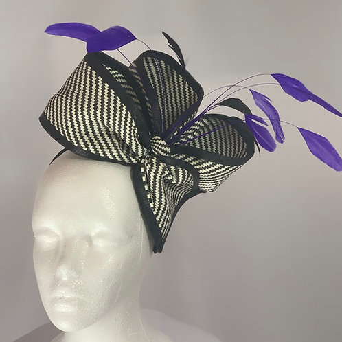 "Kentucky Derby  Fascinator ""Four Loops For the Win"""