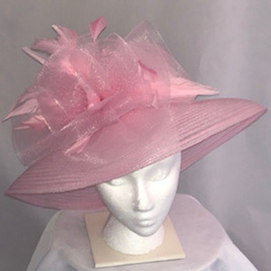 "Kentucky Derby Pink Hat ""Pink Baby Doll"""