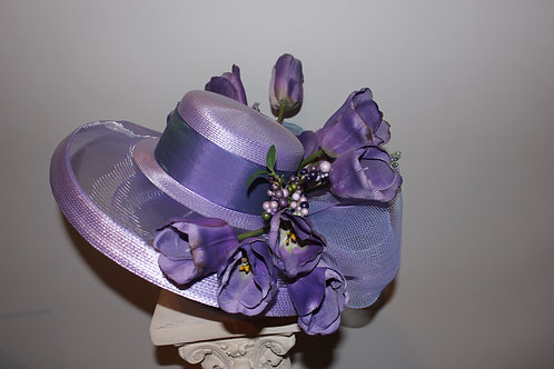 "Lavender and Purple Kentucky Derby Hat ""Tulips Bring Juleps"""