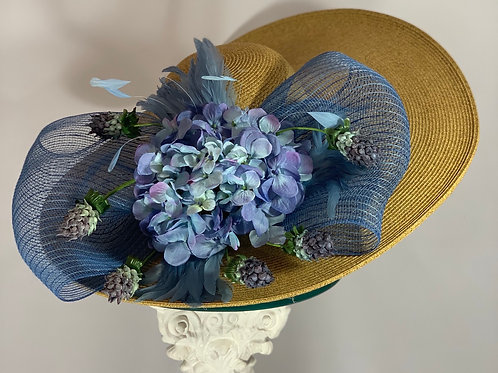 "Kentucky Derby Hat ""Periwinkle Perfect"""