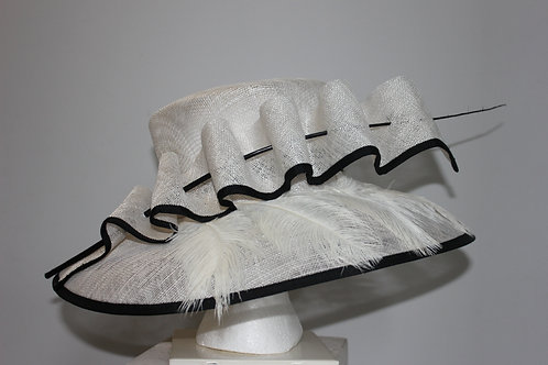 "Black and White Kentucky Derby Hat SOLD -""Spectator Sport"""