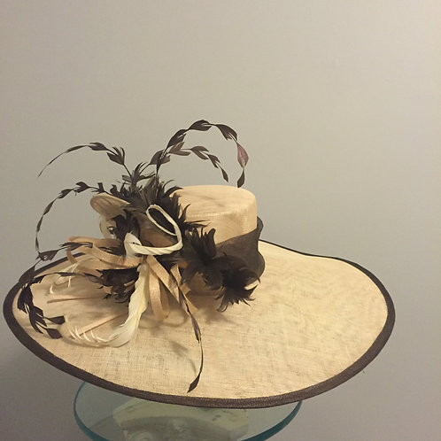 "SOLD Kentucky Derby Hat ""Brim to Brim"""