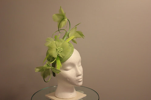 "Kentucky Derby  Fascinator- ""Chartreuse Curl"""