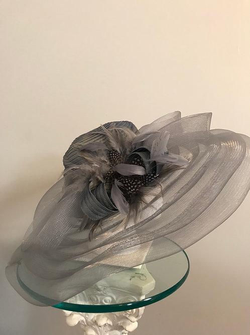 Kentucky Derby Hat - Silver Gray Day
