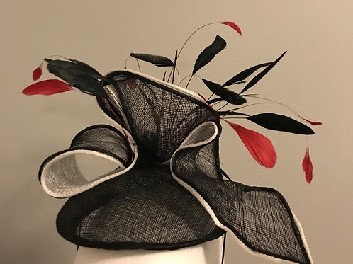 "Kentucky Derby Black and White Fascinator- ""Fashionable Fascinator"""
