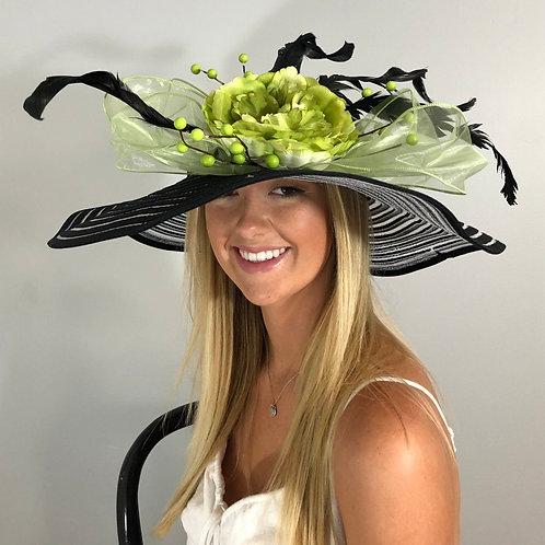 "Kentucky Derby Black Hat ""Mint to Be"""