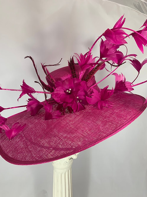 "Kentucky Derby Oversized Hat ""Lipstick Leads the Line Up"""