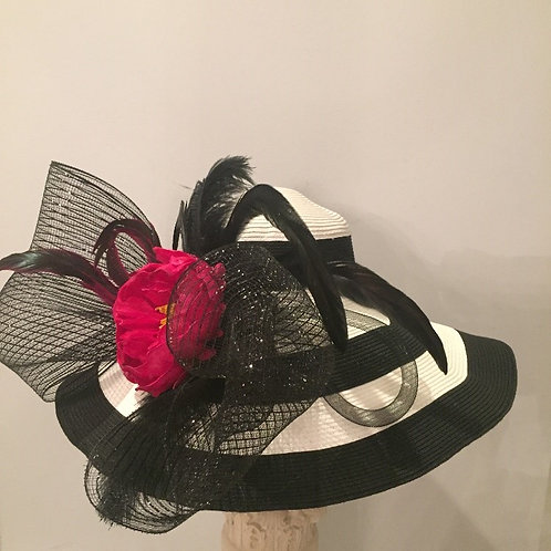 "Kentucky Derby Hat - (SOLD) ""Striped & Sassy Lady"""