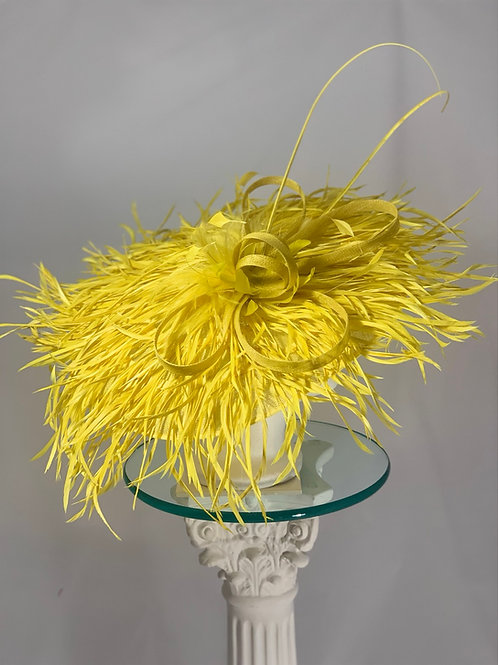 "Kentucky Derby Hat (Yellow) ""Canary Takes Flight"""