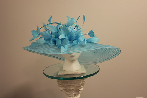 """See Me through the Blue"" Kentucky Derby or Preakness Hat"