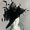 """Thumbnail: Kentucky Derby black large disc fascinator """"Dark and Lucky"""""""