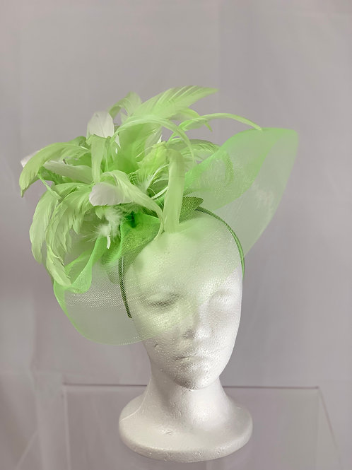 """Kentucky Derby Fascinator """"Green with Envy"""""""