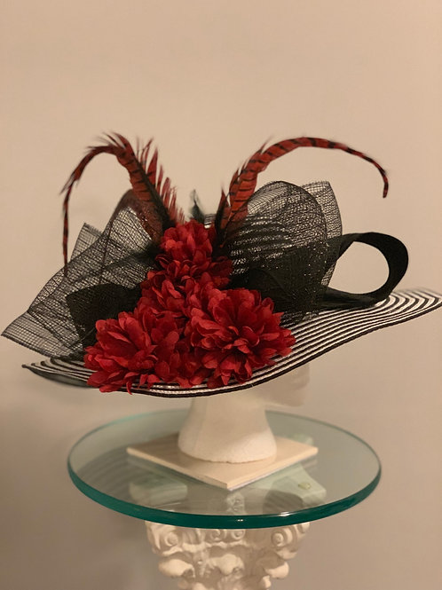 Kentucky Derby Hat Striped and Sassy (Sold)