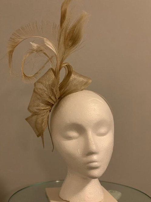SOLD Taupe Treasure- Kentucky Derby Fascinator