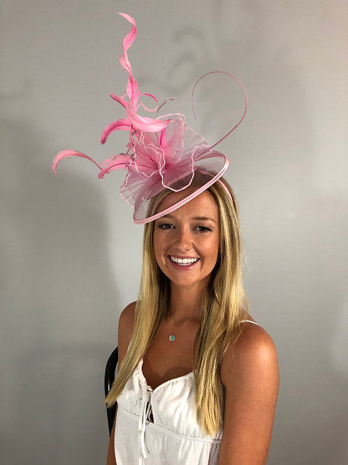 "Kentucky Derby Fascinator ""Precious in Pink"""