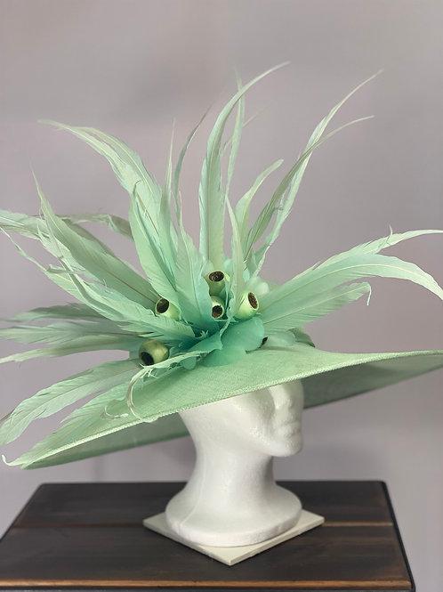 """Kentucky Derby seafoam green hat """"Seafoam Sensation"""""""