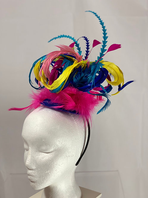 Multi-colored Kentucky Derby Fascinator -Jester Jockey