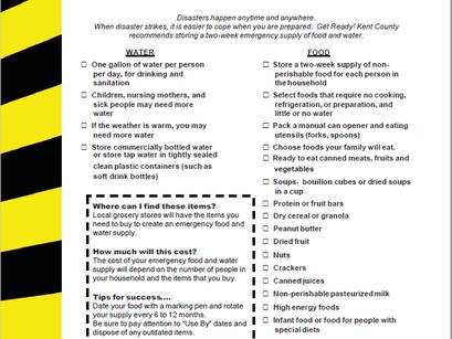 September is national disaster preparedness month!