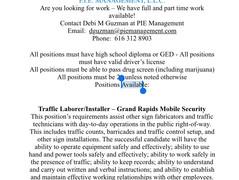 New Jobs opening's