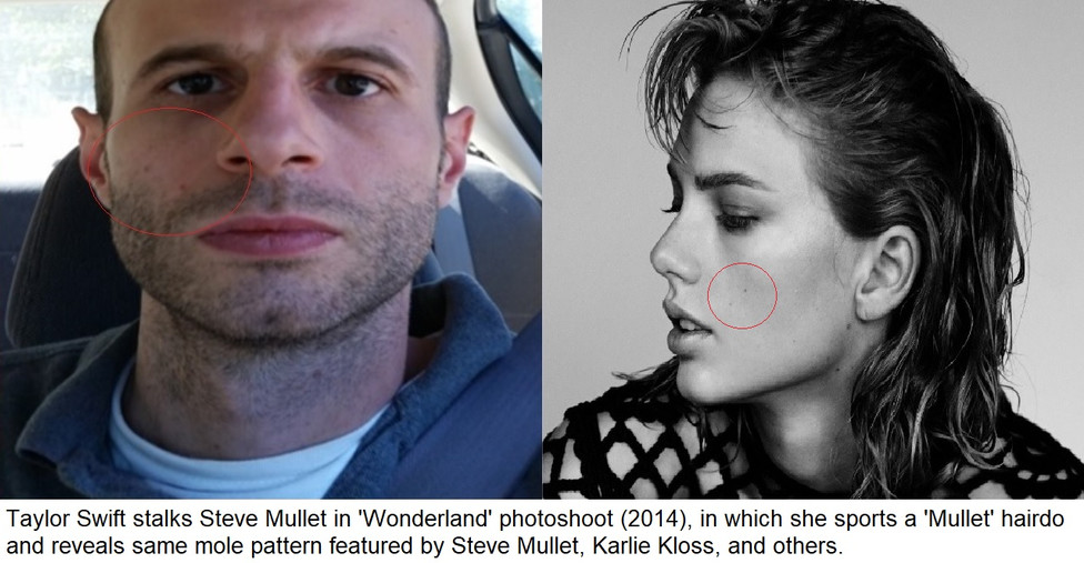 Taylor Swift and Steve Mullet Mole Patte